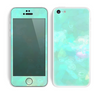 The Bright Teal WaterColor Panel Skin for the Apple iPhone 5c