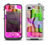 The Bright Translucent Wave Pattern V2 Apple iPhone 4-4s LifeProof Fre Case Skin Set