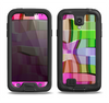 The Bright Translucent Wave Pattern V2 Samsung Galaxy S4 LifeProof Fre Case Skin Set