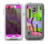 The Bright Translucent Wave Pattern V2 Skin for the Samsung Galaxy S5 frē LifeProof Case
