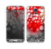 The Bright Unfocused White & Red Love Dots Skin For the Samsung Galaxy S5