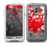 The Bright Unfocused White & Red Love Dots Skin for the Samsung Galaxy S5 frē LifeProof Case