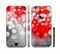 The Bright Unfocused White & Red Love Dots Sectioned Skin Series for the Apple iPhone 6s