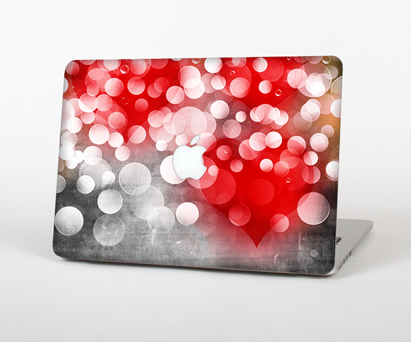 The Bright Unfocused White & Red Love Dots Skin for the Apple MacBook Pro Retina 15""