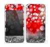 The Bright Unfocused White & Red Love Dots Skin for the Apple iPhone 4-4s