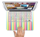 "The Bright Vector Striped Skin Set for the Apple MacBook Pro 15"" with Retina Display"