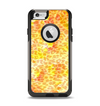 The Bright Yellow and Orange Leopard Print Apple iPhone 6 Otterbox Commuter Case Skin Set