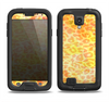 The Bright Yellow and Orange Leopard Print Samsung Galaxy S4 LifeProof Fre Case Skin Set