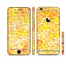 The Bright Yellow and Orange Leopard Print Sectioned Skin Series for the Apple iPhone 6 Plus