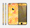 The Bright Yellow and Orange Leopard Print Skin for the Apple iPhone 6
