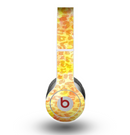 The Bright Yellow and Orange Leopard Print Skin for the Beats by Dre Original Solo-Solo HD Headphones