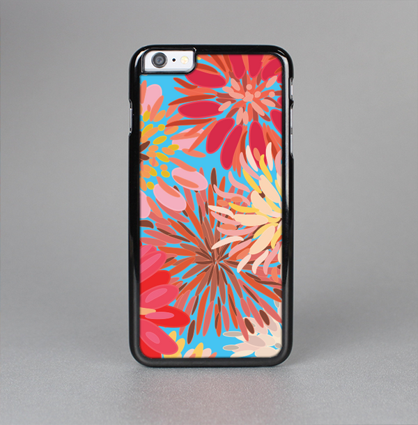 The Brightly Colored Watercolor Flowers Skin-Sert Case for the Apple iPhone 6 Plus