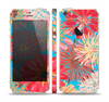 The Brightly Colored Watercolor Flowers Skin Set for the Apple iPhone 5s