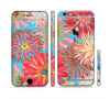 The Brightly Colored Watercolor Flowers Sectioned Skin Series for the Apple iPhone 6
