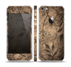 The Brown Aged Floral Pattern Skin Set for the Apple iPhone 5
