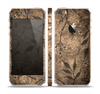 The Brown Aged Floral Pattern Skin Set for the Apple iPhone 5s