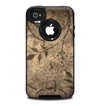 The Brown Aged Floral Pattern Skin for the iPhone 4-4s OtterBox Commuter Case