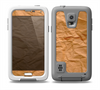 The Brown Crumpled Paper Skin for the Samsung Galaxy S5 frē LifeProof Case