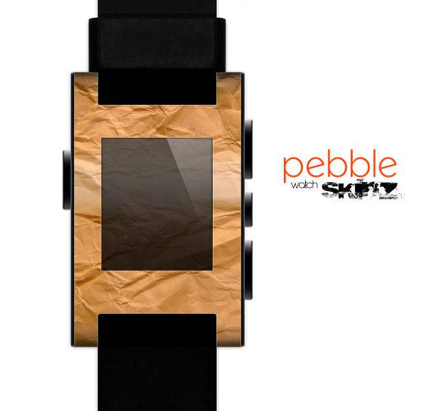 The Brown Crumpled Paper Skin for the Pebble SmartWatch