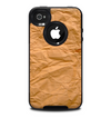 The Brown Crumpled Paper Skin for the iPhone 4-4s OtterBox Commuter Case