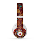 The Brown & Gold Paisley Pattern Skin for the Beats by Dre Studio (2013+ Version) Headphones