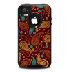 The Brown & Gold Paisley Pattern Skin for the iPhone 4-4s OtterBox Commuter Case