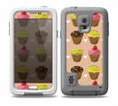 The Brown, Pink and Yellow Cupcake Collage Skin for the Samsung Galaxy S5 frē LifeProof Case