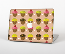 "The Brown, Pink and Yellow Cupcake Collage Skin Set for the Apple MacBook Pro 15"" with Retina Display"