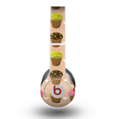 The Brown, Pink and Yellow Cupcake Collage Skin for the Beats by Dre Original Solo-Solo HD Headphones