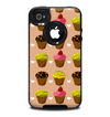 The Brown, Pink and Yellow Cupcake Collage Skin for the iPhone 4-4s OtterBox Commuter Case