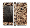 The Brown Vector Leopard Print Skin Set for the Apple iPhone 5