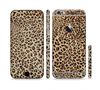 The Brown Vector Leopard Print Sectioned Skin Series for the Apple iPhone 6 Plus