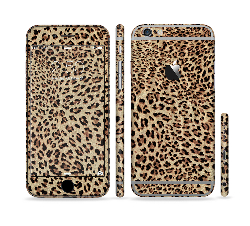 The Brown Vector Leopard Print Sectioned Skin Series for the Apple iPhone 6s