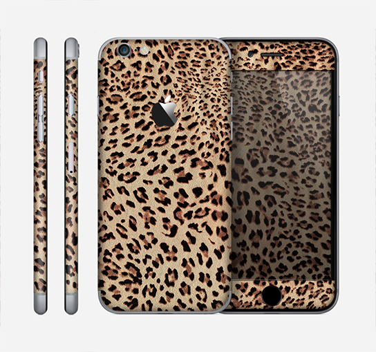The Brown Vector Leopard Print Skin for the Apple iPhone 6