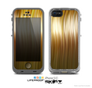 The Brown Vector Swirly HD Strands Skin for the Apple iPhone 5c LifeProof Case