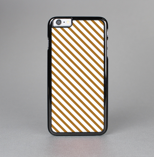 The Brown & White Striped Pattern Skin-Sert Case for the Apple iPhone 6 Plus