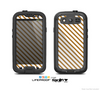 The Brown & White Striped Pattern Skin For The Samsung Galaxy S3 LifeProof Case