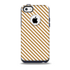 The Brown & White Striped Pattern Skin for the iPhone 5c OtterBox Commuter Case