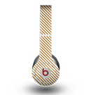 The Brown & White Striped Pattern copy Skin for the Beats by Dre Original Solo-Solo HD Headphones
