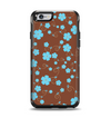 The Brown and Blue Floral Layout Apple iPhone 6 Otterbox Symmetry Case Skin Set