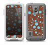 The Brown and Blue Floral Layout Skin for the Samsung Galaxy S5 frē LifeProof Case