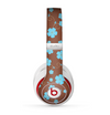 The Brown and Blue Floral Layout Skin for the Beats by Dre Studio (2013+ Version) Headphones