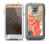 The Brown and Orange Transparent Flowers Skin Samsung Galaxy S5 frē LifeProof Case