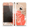 The Brown and Orange Transparent Flowers Skin Set for the Apple iPhone 5s