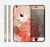 The Brown and Orange Transparent Flowers Skin for the Apple iPhone 6