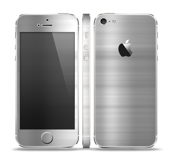 The Brushed Metal Surface Skin Set for the Apple iPhone 5
