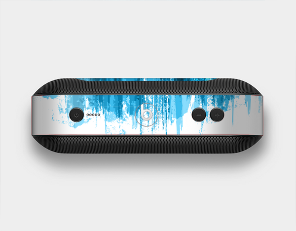 The Brushed Vivid Blue & White Background Skin Set for the Beats Pill Plus
