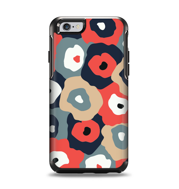 The Bulky Colorful Flowers Apple iPhone 6 Otterbox Symmetry Case Skin Set