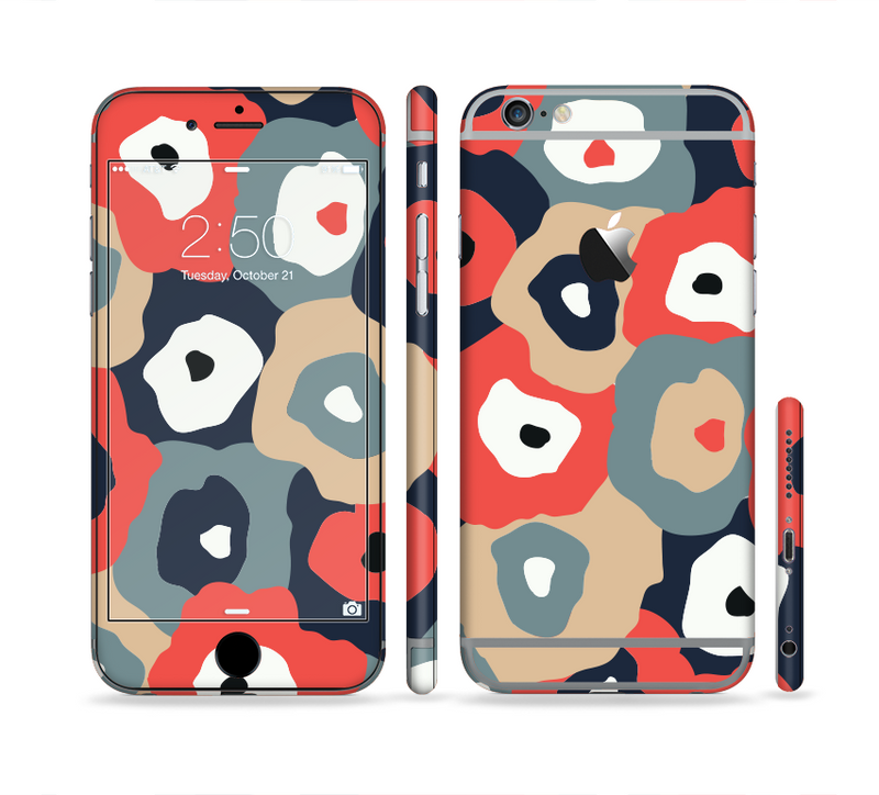 The Bulky Colorful Flowers Sectioned Skin Series for the Apple iPhone 6s