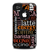 The Cafe Word Cloud Skin for the iPhone 4-4s OtterBox Commuter Case